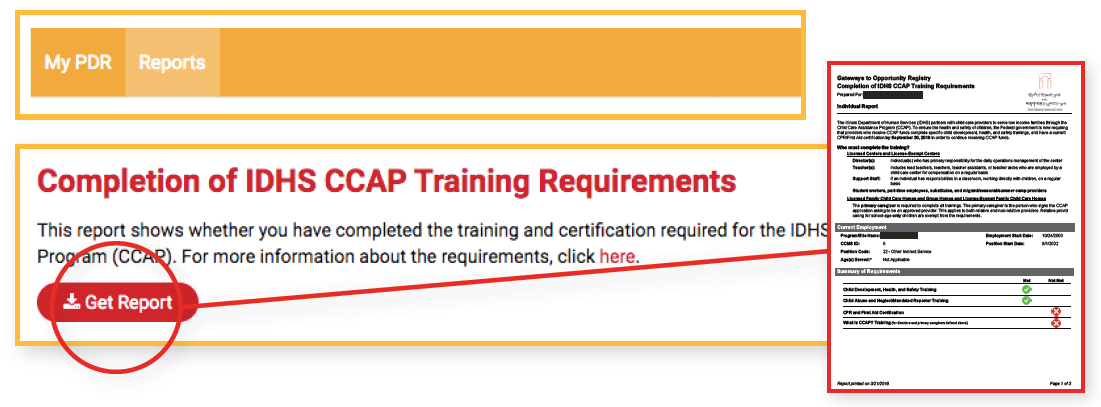 Completion Of Idhs Ccap Training Requirements Gateways Registry